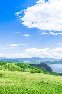爽快 北海道 藻琴山展望台の写真素材 [FYI01257995]