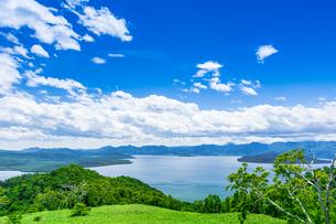 爽快 北海道 藻琴山展望台の写真素材 [FYI01258023]