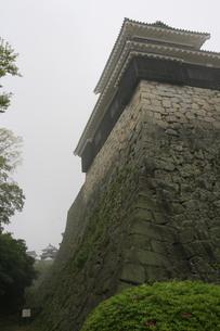霧にけむる城の写真素材 [FYI01258097]