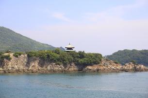 日本の広島県福山市鞆の浦の海と船の風景の写真素材 [FYI01258235]