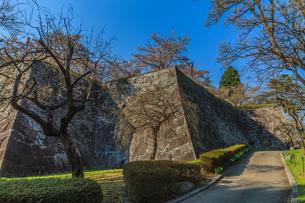 春の盛岡城の風景の写真素材 [FYI01258665]