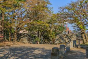 春の盛岡城跡の御末御門跡の風景の写真素材 [FYI01258728]
