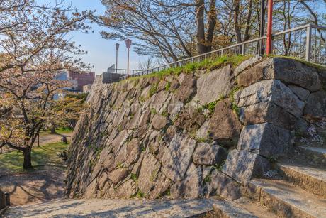 春の盛岡城跡の風景の写真素材 [FYI01258730]