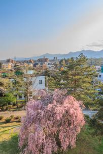 春の盛岡城からみた風景の写真素材 [FYI01258811]