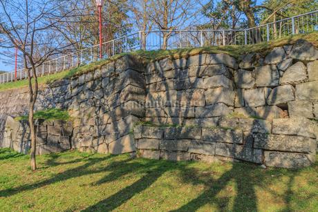 春の盛岡城の榊山稲荷曲輪の風景の写真素材 [FYI01258824]
