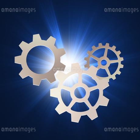 歯車 ギア 機械部品 工業 産業 金属 メタル 組織 ビジネスのイラスト素材 [FYI01258857]