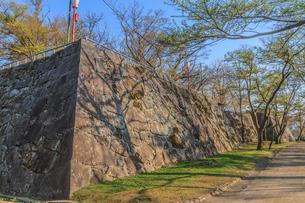 春の盛岡城の風景の写真素材 [FYI01258881]