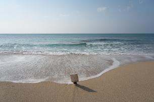 満潮時の奄美大島龍郷赤尾木海岸のハートロックの写真素材 [FYI01259305]