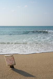満潮時の奄美大島龍郷赤尾木海岸のハートロックの写真素材 [FYI01259306]