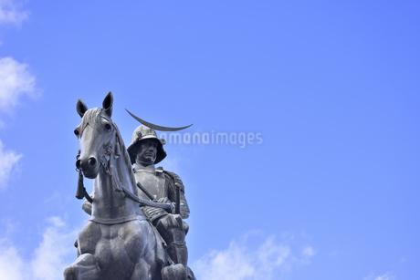 伊達政宗騎馬像の写真素材 [FYI01259360]