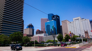 ヒューストンの街並みの写真素材 [FYI01259611]