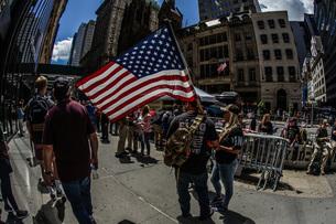大統領支持者の集会の写真素材 [FYI01259734]