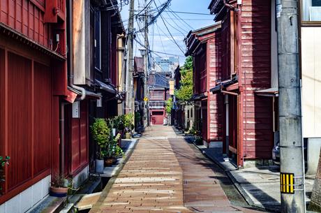 金沢 ひがし茶屋街の写真素材 [FYI01259855]