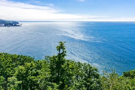 北海道 知床 プユニ岬付近よりウトロの海を望むの写真素材 [FYI01259978]