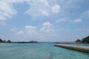 南国の海に桟橋が伸びるの写真素材 [FYI01260009]