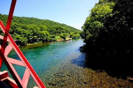 北海道支笏湖の春の風景の写真素材 [FYI01260170]