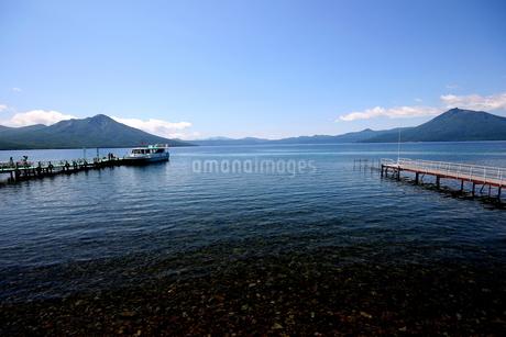 北海道支笏湖の春の風景の写真素材 [FYI01260181]
