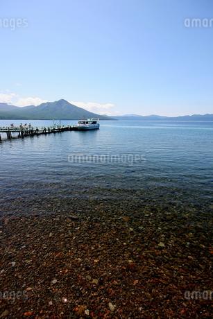 北海道支笏湖の春の風景の写真素材 [FYI01260185]