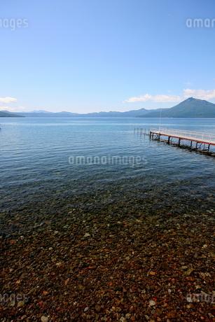 北海道支笏湖の春の風景の写真素材 [FYI01260187]