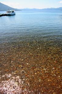 北海道支笏湖の春の風景の写真素材 [FYI01260189]
