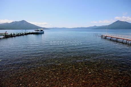 北海道支笏湖の春の風景の写真素材 [FYI01260198]