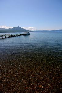 北海道支笏湖の春の風景の写真素材 [FYI01260209]