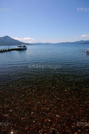 北海道支笏湖の春の風景の写真素材 [FYI01260211]
