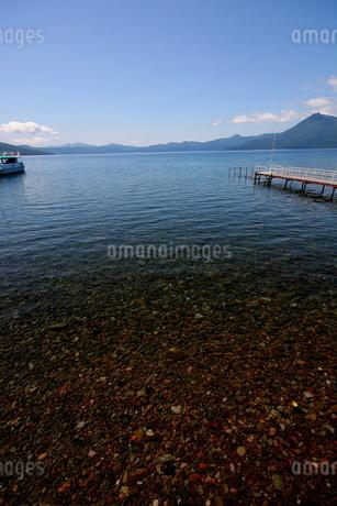 北海道支笏湖の春の風景の写真素材 [FYI01260213]