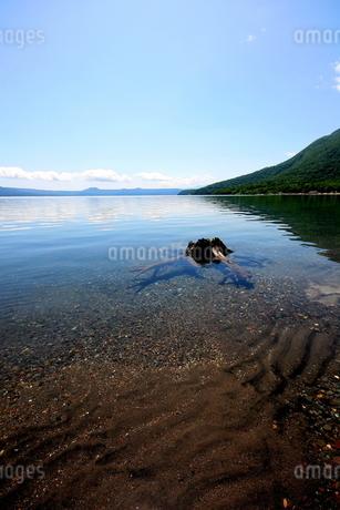 北海道支笏湖の春の風景の写真素材 [FYI01260227]