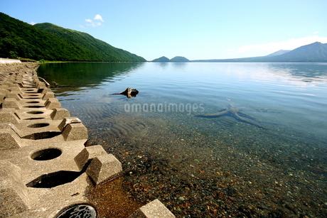 北海道支笏湖の春の風景の写真素材 [FYI01260241]