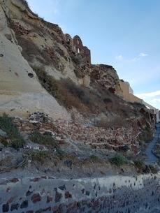 サントリーニ島 イアの断崖 santorini oiaの写真素材 [FYI01260252]