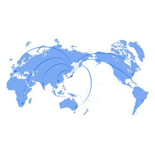 ビジネス背景 日本経済 世界地図 世界販売 貿易 世界シェア 取引のイラスト素材 [FYI01260278]