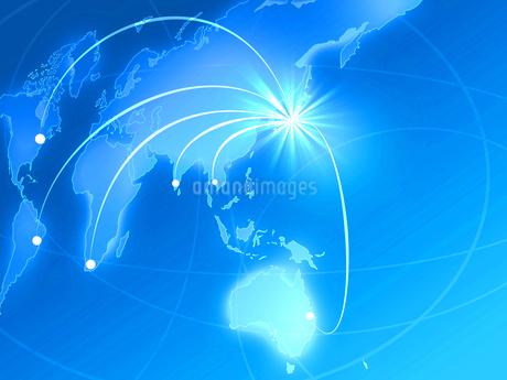 ビジネス背景 日本経済 世界地図 世界販売 貿易 世界シェア 取引のイラスト素材 [FYI01260279]