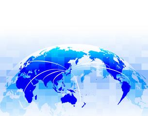 ビジネス背景 日本経済 世界地図 世界販売 貿易 世界シェア 取引のイラスト素材 [FYI01260280]
