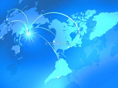 ビジネス背景 日本経済 世界地図 世界販売 貿易 世界シェア 取引のイラスト素材 [FYI01260281]