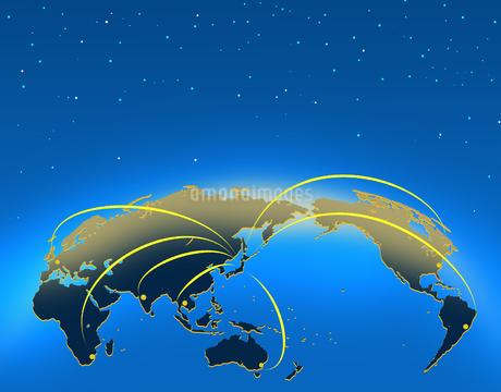ビジネス背景 日本経済 世界地図 世界販売 貿易 世界シェア 取引のイラスト素材 [FYI01260282]