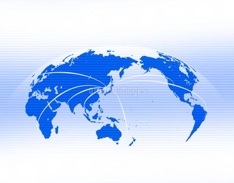 ビジネス背景 日本経済 世界地図 世界販売 貿易 世界シェア 取引のイラスト素材 [FYI01260283]