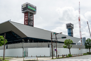 東京アクアティクスセンター 建設中の写真素材 [FYI01260364]