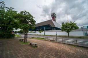 東京アクアティクスセンター 建設中の写真素材 [FYI01260365]