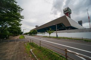 東京アクアティクスセンター 建設中の写真素材 [FYI01260366]