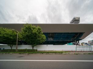 東京アクアティクスセンター 建設中の写真素材 [FYI01260367]