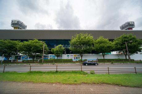 東京アクアティクスセンター 建設中の写真素材 [FYI01260368]