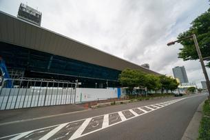 東京アクアティクスセンター 建設中の写真素材 [FYI01260369]