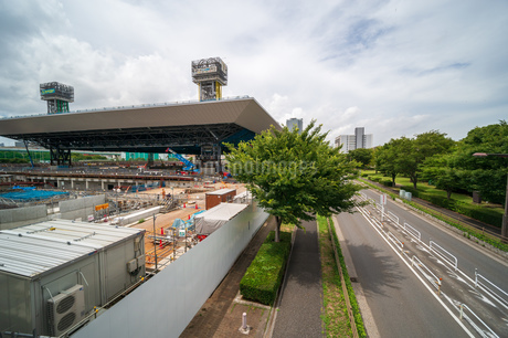 東京アクアティクスセンター 建設中の写真素材 [FYI01260370]