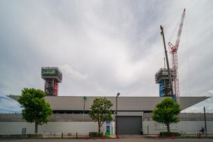 東京アクアティクスセンター 建設中の写真素材 [FYI01260371]