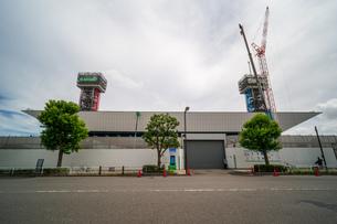 東京アクアティクスセンター 建設中の写真素材 [FYI01260372]
