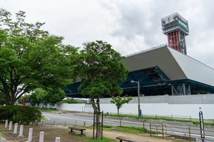 東京アクアティクスセンター 建設中の写真素材 [FYI01260374]