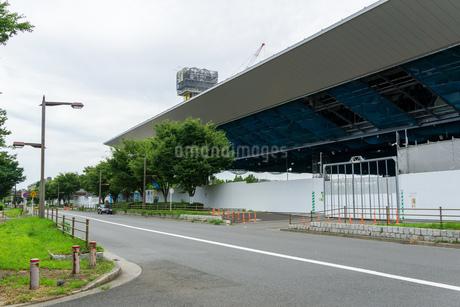 東京アクアティクスセンター 建設中の写真素材 [FYI01260375]