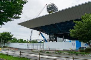東京アクアティクスセンター 建設中の写真素材 [FYI01260378]