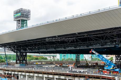 東京アクアティクスセンター 建設中の写真素材 [FYI01260381]